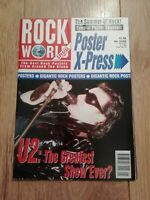 ROCK WORLD MAGAZINE SPECIAL POSTER SOUVENIR ROCK POSTERS U2 INXS QUEEN HENDRIX