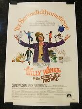 WILLY WONKA & THE CHOCOLATE FACTORY Original Movie Poster, C8.5 VF/Near Mint