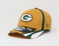 New Era 39Thirty Cap NFL Mens Team Green Bay Packers Yellow Green Traing Hat