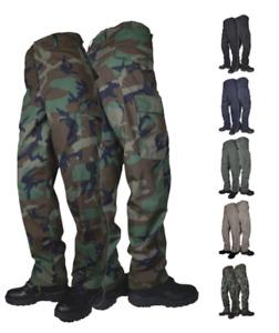 Tru-Spec Basic Mens BDU Pants, Cotton/Poly Ripstop with Zipper Fly