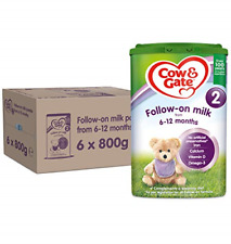 Cow & Gate 2 Follow On Baby Milk Powder Formula, 6-12 Months, 800g Pack of 6
