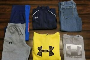 Boys Size 10 Large Lot Clothes Under Armour Sweat Pants Hoodie