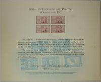 BEP souvenir card B 17 Nopex 1972 1953 3¢ LA Purchase stamp Damaged