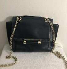 EUC Diane von Furstenberg DVF Black Leather Cross Body Handbag