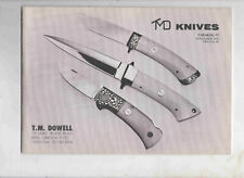 TMD T M Dowell Knives Catalog And Price Guide CATALOG #7 NOVEMBER 1979 & MORE