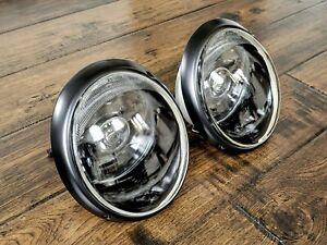 Porsche 911 930 European Stealth Black bi-LED Headlight Assembly - PAIR