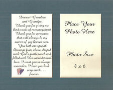GRANDMA & GRANDPA Encourage MEMORIES Joy Love GRANDPARENTS verses poems plaques