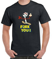Ladies Mens Toy Story 4 Inspired Funny Fork you! Forky T-Shirt Woody Buzz