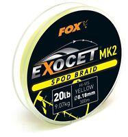 Fox Exocet MK2 Spod Braid 300m 20lb 0,18mm CBL013 Geflochtene Schnur Spodbraid