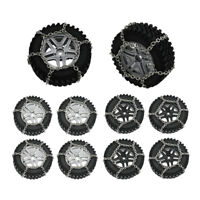 4x Metal Rim Hub Soft Wheel Tires with Foam + Snow Chain for MN86 RC Car Upgrade