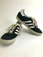 Adidas Gazelle Womens Size 6 Sneakers Black White Suede Shoes