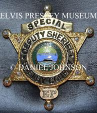 ELVIS PRESLEY OWNED FAMOUS SHELBY COUNTY DEPUTY SHERIFF'S BADGE 1973 10 Diamonds