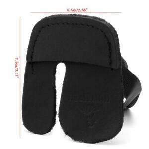 Cow Leather Three Finger Tab Guard Protector Glove Archery Shooting Hunting Bow