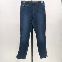 Nine West Heidi pull on skinny crop jegging jeans zip ankles sz 4  LK3