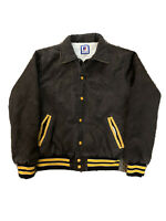 Vintage Rennoc Varsity Jacket Brown Corduroy Cougars Quilted Mens Large USA 90s