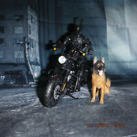 G.I. Joe Classified Snake Eyes Action Figure AND MOTORCYCLE AND GERMAN SHEPHERD!
