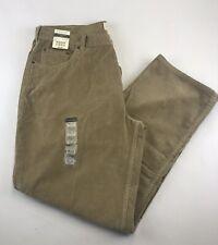 ST JOHN'S BAY MEN'S W38/IN33/L42 Easy Fit Tan Corduroy Jeans NWT Casual