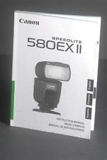 Canon Genuine 580EX II Speedlite Camera Flash Instruction Book / Manual / Guide