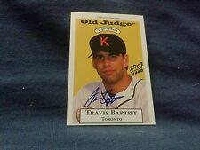 TRAVIS BAPTIST AUTOGRAPHED/HAND SIGN BASEBALL CARD #2903 OF 6000