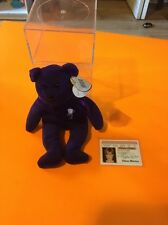 Museum Mint 1st Edition Princess Diana Beanie Baby W/PVC Pellets,no Space,china