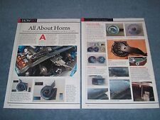 """1969 1970 Ford Mustang Horn Info Article """"All About Horns"""""""