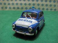 "ZASTAVA 750  850cc. 1960  "" Milicjia ""  -  1/43 Progetto KC 002  -  MIB"