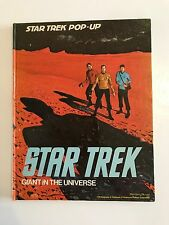 VINTAGE Star Trek GIGANTE nell'universo: LIBRO POP UP (la serie originale) 1977