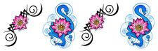 4 TATUAGGI TEMPORANEI FIORI TEMPORARY TATTOO FLOWERS 2