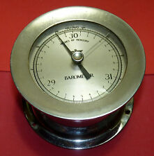 Antique Millibars Barometer Chrome Brass