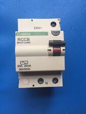CRABTREE 363/S030 63A 30mA RCD 2 Pole Main Switch 63 Amp RCCB Isolator Breaker