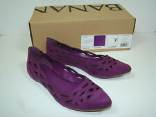 Banana Republic Fuchsia Purple Suede Pointed Toe Summer Flats New NIB Women's 7