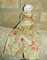Gorgeous Rare Antique Bisque Bonnet Head Doll--Possibly Hertwig-Fragile Body