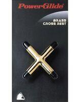 Powerglide Snooker & Pool Accessories Brass Cross Rest Sturdy Pro Cue Rest