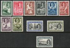 Nigeria 1936 KGV set of mint stamps value to 10 shillings LMM