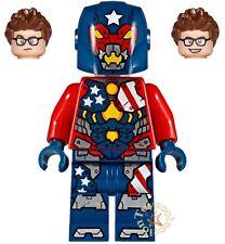 LEGO SUPER HEROES MARVEL  MINIFIGURA JUSTIN HAMMER SET 76077 ORIGINAL MINIFIGURE