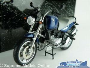 BMW R 1100R MODEL MOTORBIKE 1:24 SIZE MINICHAMPS 242 RR 1101 BLUE CYCLE LINE T34