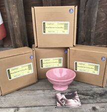Longaberger Woven Traditions Pink Ice Cream Bowl Set Of Four
