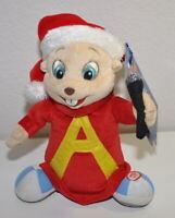 "Alvin and the Chipmunks Plush Santa Animated Musical Christmas Sings 9"""