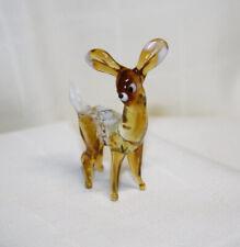Hand Blown Glass Lamp Glass Murano Art Glass Bambi  Figurine