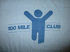 vtg 80s 100 MILE CLUB SHIRT Running Softest Abandonded Riverside Hospital Toledo