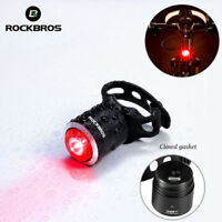 ROCKBROS Bike Bicyle Tail Light Warning Lamp USB Rechargeable IPX5 Waterproof