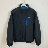 Men's Vintage Adidas Full-Zip Jacket Coat Black UK Size M Medium