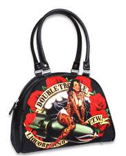 Liquor Brand Double Trouble Pinup Girl Bomb Punk Bowler Bag Purse LB-BOW-00019