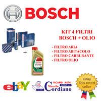 KIT 4 FILTRI TAGLIANDO BOSCH AUDI A4 2.5 TDI V6 +OLIO CASTROL EDGE 5W30 LONGLIFE