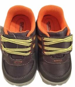 Surprize by Stride Rite Size 2 Baby Boys Gray DIEGO Sneakers Memory Foam NEW
