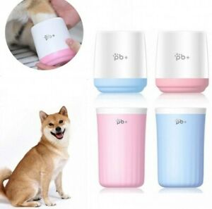 Portable Dog Paw Cleaner Cup Dog Foot Washer Pet Cleaning Grooming Tool US