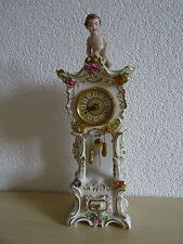 Dresden Porzellan Kaminuhr Handarbeit ca.37 cm.