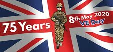 VE Day Banner Poster Party Decorations GB Union Jack 75 Years 8th May Pack of 2