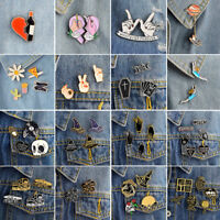 Funny Fashion Brooch Pins Shirt Collar Lapel Pin Necktie Clip Women Jewelry Gift