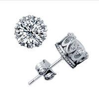 925 Sterling Silver Gemstone Crystal Ear Hoop Stud Dangle Earrings Women Jewelry